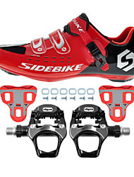 cheap -SIDEBIKE Bike Cycling Shoes With Pedals & Cleats Road Shoes Bike Cycling Shoes Adults' Cushioning Road Bike Outdoor Breathable Mesh PU EVA