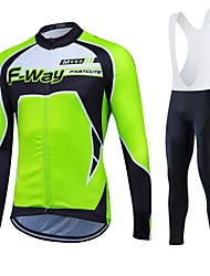 cheap -Sports Cycling Jersey Women's / Men's / Unisex Long Sleeve BikeBreathable / Thermal / Warm / Quick Dry / Fleece Lining / Moisture