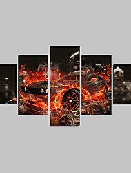 Hot Sell Canvas Set Of 5 Abstract Print Painting Car Pictures Painting On The Wall Home Decor For Living Room
