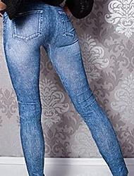 cheap -Women Solid Colored Denim Legging