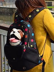preiswerte -Katze Hund Transportbehälter &Rucksäcke Haustiere Träger Tragbar Atmungsaktiv Solide Punkt Schwarz Grün Blau Rosa Regenbogen