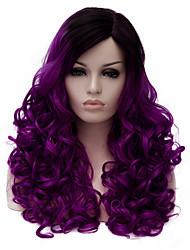 economico -Donna Parrucche sintetiche Senza tappo Medio Viola Parrucche senza cappuccio Parrucca di Halloween Parrucca di carnevale costumi parrucche