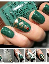 Недорогие -1шт 17m * 0.5cm французский маникюр ногтей искусство советы творческий наклейки ногтей клейкая лента для ногтей аксессуары искусства ногтя
