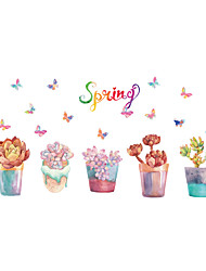 Wall Stickers Wall Decals Style Dream Potted Plants PVC Wall Stickers