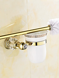 cheap -Toilet Brush Holder Bathroom Gadget Contemporary Brass 12.5cm 19.5cm Toilet Brush Holder