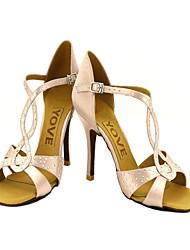 tilpasset satin arch rem latin / balsal danseforestilling sko med spænde (flere farver)