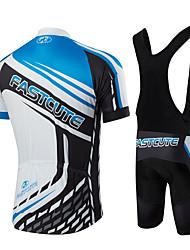 Fastcute Maglia con salopette corta da ciclismo Per uomo Per donna Bambini Unisex Manica corta Bicicletta Salopette Maglietta/Maglia