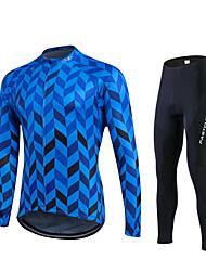 economico -Fastcute® Maglia con pantaloni da ciclismo Per donna / Per uomo / Unisex Maniche lunghe BiciclettaTraspirante / Asciugatura rapida /