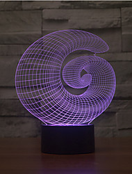 cheap -Abstract Touch Dimming 3D LED Night Light 7Colorful Decoration Atmosphere Lamp Novelty Lighting Light