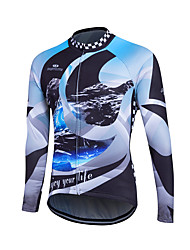 cheap -Fastcute Men's Long Sleeve Cycling Jersey Bike Jersey, Thermal / Warm, Quick Dry, Breathable Polyester, Coolmax®, Fleece