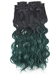 cheap -24 inch Synthetic Hair Hair Extension Wavy Classic Clip In Daily High Quality Women's