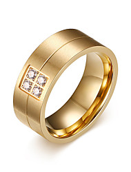 cheap -Men's Rhinestone Band Ring - Personalized / Fashion Gold Ring For Daily / Casual