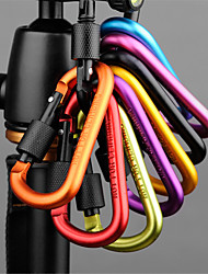 Safety Lock Button Hook Outdoor Hiking Camping Hiking Backpack Key Ring Kettle T (Color Random 5 Set)