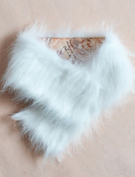 Women Faux Fur ScarfParty / Work / Casual Infinity ScarfBlack / White / Brown / Beige Solid