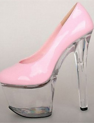 cheap -Women's Shoes Patent Leather Summer Fall Club Shoes Light Up Shoes Heels Stiletto Heel Platform Crystal Heel for Party & Evening Dress