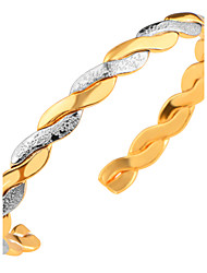 Celebrity Fashion Jewelry Two Color 18K Gold/Platinum Plated Bangle Fof Women High Quality Gift BR70099