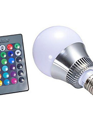 E26/E27 LED Smart Bulbs A60 1 High Power LED 250lm RGB  Dimmable Remote-Controlled AC 85-265V