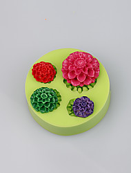 Fda lfgb bonito mini silicone rosa copo bolo bolo de chocolate fimo argila ferramentas cor aleatória