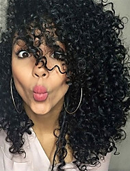 Women Synthetic Wig Short Curly Afro Black Side Part African American Wig Black Wig Halloween Wig Carnival Wig Costume Wig