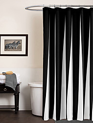 cheap -Shower Curtains Modern Poly / Cotton Blend Stripe Machine Made
