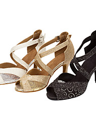 Women's Ballroom Salsa Dance Shoes Sparkling Glitter Latin / Salsa Sandals / Heels Customizable