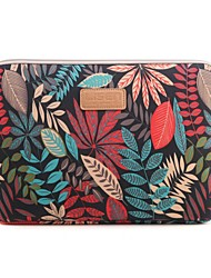 "cheap -13"" 14"" 15.6"" Colorful coleus Pattern Canvas Bag Computer Protective Sleeve Case for Macbook 13 /15 HP lenovo"