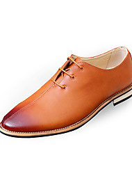 cheap -Men's Shoes PU Spring / Fall Comfort / Formal Shoes Oxfords Gray / Brown / Red / Dress Shoes