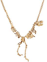 abordables -Femme Dinosaure Dragon Plaqué argent Plaqué or Collier court / Ras-du-cou Colliers Déclaration  -  Personnalisé Rétro Soirée Animal Or