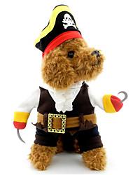 Katze Hund Kostüme Hundekleidung Cosplay Halloween Totenkopf Motiv Schwarz