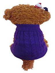 abordables -Chien Pull Vêtements pour Chien Fleur Orange Violet Fibres acryliques Costume Pour les animaux domestiques Homme Femme Mode