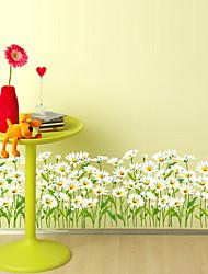 baratos -Floral Árvores/Folhas Art Deco Decoração para casa Moderna Revestimento de paredes, PVC/Vinil Material adesivo necessário Fronteira,
