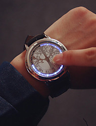 cheap -Large Dial LED Touch Screen Couple Watches Luxury Brand Watches Women Dress Quartz Clocks Vintage Students Watch Wrist Watch Cool Watch Unique Watch