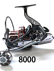 cheap -Spinning Reels 4:7:1 Gear Ratio+11 Ball Bearings Exchangable Sea Fishing - SP8000