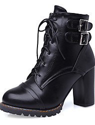 cheap -Women's Shoes Boots Spring/Fall/Winter Heels/Platform/Fashion Boots/Bootie/Round Toe Office Career/Dress/Casual