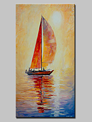 Large Hand Painted Modern Abstract Boat Oil Painting On Canvas Wall Art Picture With Stretched Frame Ready To Hang