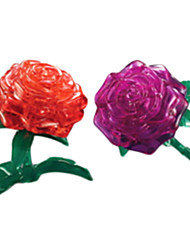 Недорогие -Пазлы 3D пазлы / Хрустальные пазлы Строительные блоки DIY игрушки Роуз ABS Серебристый Модели и конструкторы