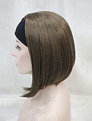 cheap -New Fashion 3/4 Wig With Headband Women's Short Straight Synthetic Half Wig 6 Color Selection