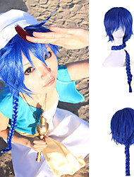 cheap -costume wig japanese anime harajuku style extra long length blue color cheap synthetic cosplay hairstyle Halloween