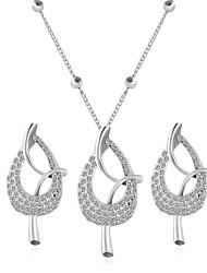abordables -Mujer Zirconia Cúbica Conjunto de joyas - Zirconio Bohemio, Moda, Inspirador Incluir Collar / pendientes Plata Para Boda / Fiesta / Diario / Casual