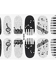 12Pcs/Sheet Sanat Sticker Nail 3D Tırnak Çıkartması Karton / Sevimli Makyaj Kozmetik Sanat Tasarım Nail