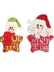abordables -navidad tela pentagrama carta ornamento navidad decoración