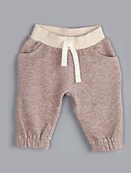 Pantaloni Maschile Casual Tinta unita Cotone Autunno Marrone