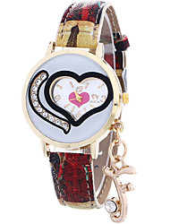 cheap -Women's Wrist Watch Hot Sale / Cool / / Leather Band Heart shape / Casual / Fashion Blue / Red / Grey