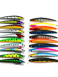 20 pc Esca Confezioni di esche Multicolore g/Oncia,9.5 CM:11.5CM mm pollice,Plastica morbida Pesca di mare