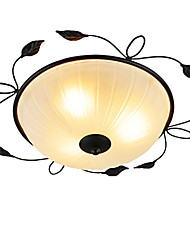 cheap -Creative round Glass Art Ceiling Ceiling Balcony Bedroom Minimalist Led Ceiling Lamp (Diameter 45CM)