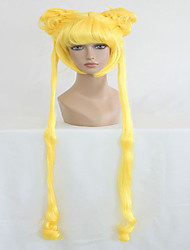 cheap -Anime Sailor Moon Sailor Moon Lemon Yellow Two Braids 140cm Long Wavy Cosplay Wigs