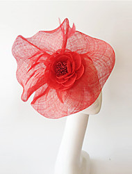 Kentucky Derby Church Races Red Flax Wedding Event Fascinator