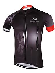 Unisexo Manga Curta Camisa para Ciclismo Moto Secagem Rápida, Design Anatômico, Respirável, Redutor de Suor, Tiras Refletoras