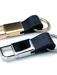 Männer und Frauen Ring Leder Metall-Schlüsselanhänger Autoschlüssel