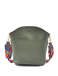 Women Bags All Seasons PU Shoulder Bag for Casual Black Gray Red Green Wine
